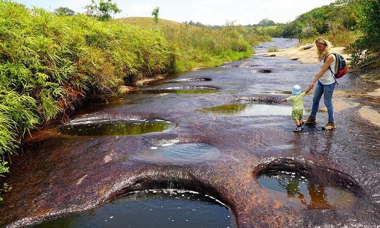 Las Gachas természetes medencéi