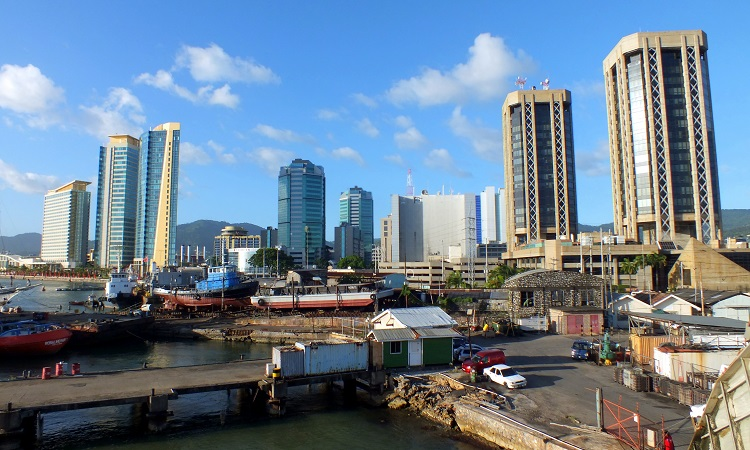 Port of Spain, a Karib-szigetek gazdasági központja